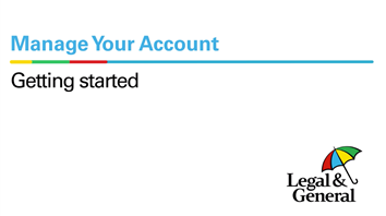 Getting started in Manage Your Account